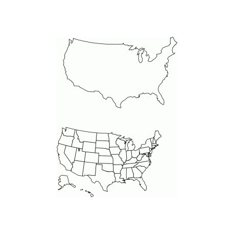 All 50 States Free DXF File