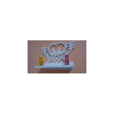 Decorative Bird Heart Shelf Free DXF File