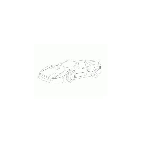 Ferrari Car Free DXF File