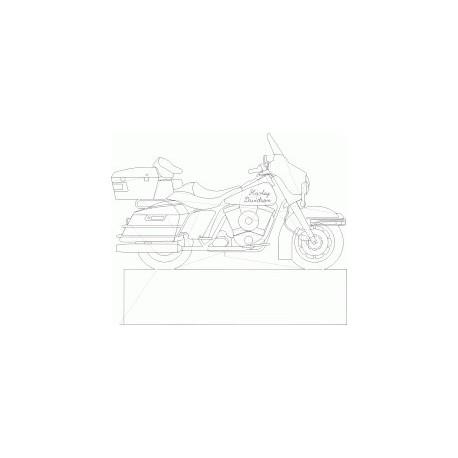 Harleydavidson Profile Free DXF File