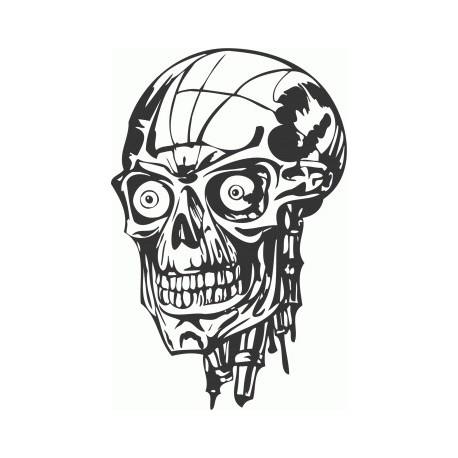 Horror Skull Free DXF File