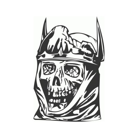 King Skull Free DXF File