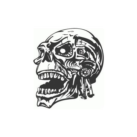 Skull Head Free DXF File