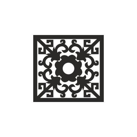 Square Ornament Art Free DXF File