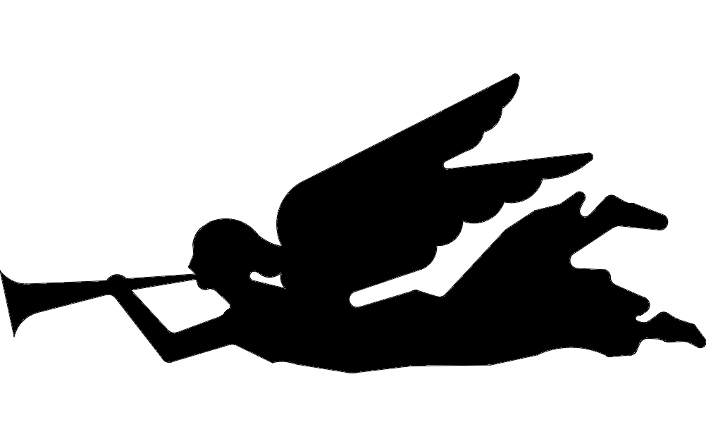 Angel With Horn Free DXF File