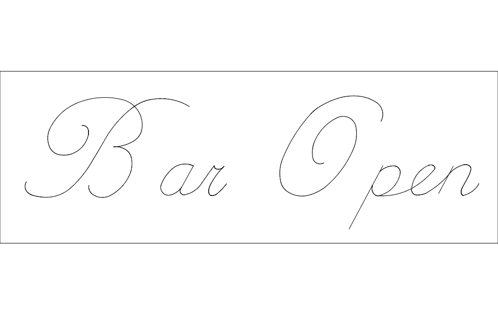 Bar Open Free DXF File