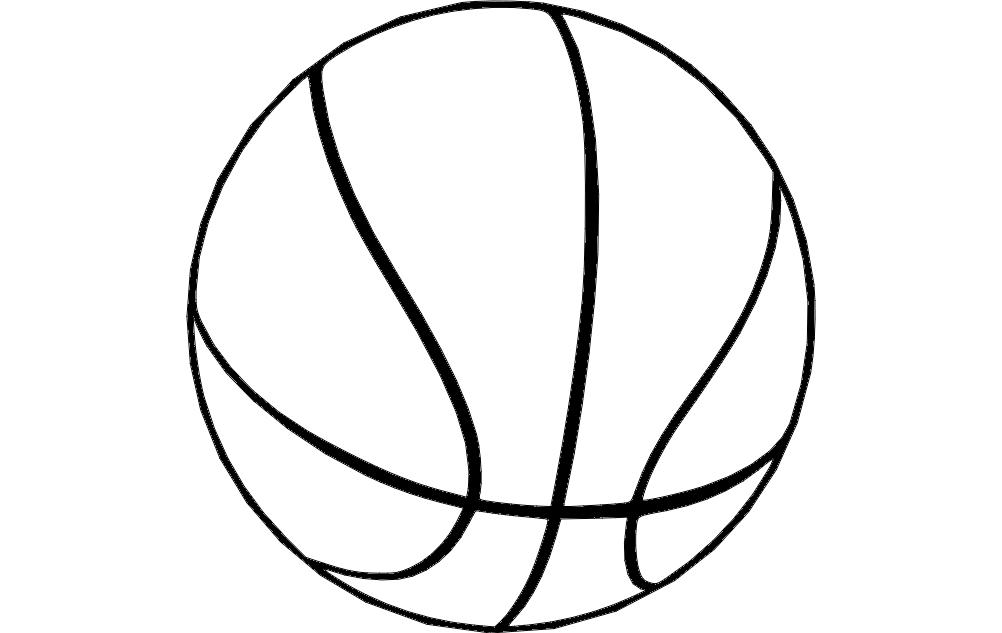 Basketball 2 Free DXF File