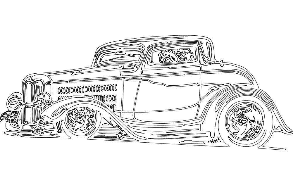Car 1 Free DXF File