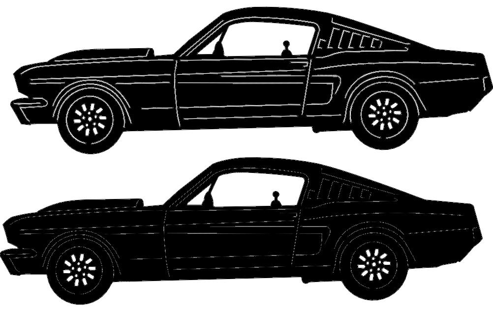 Classic Car 16 Free DXF File