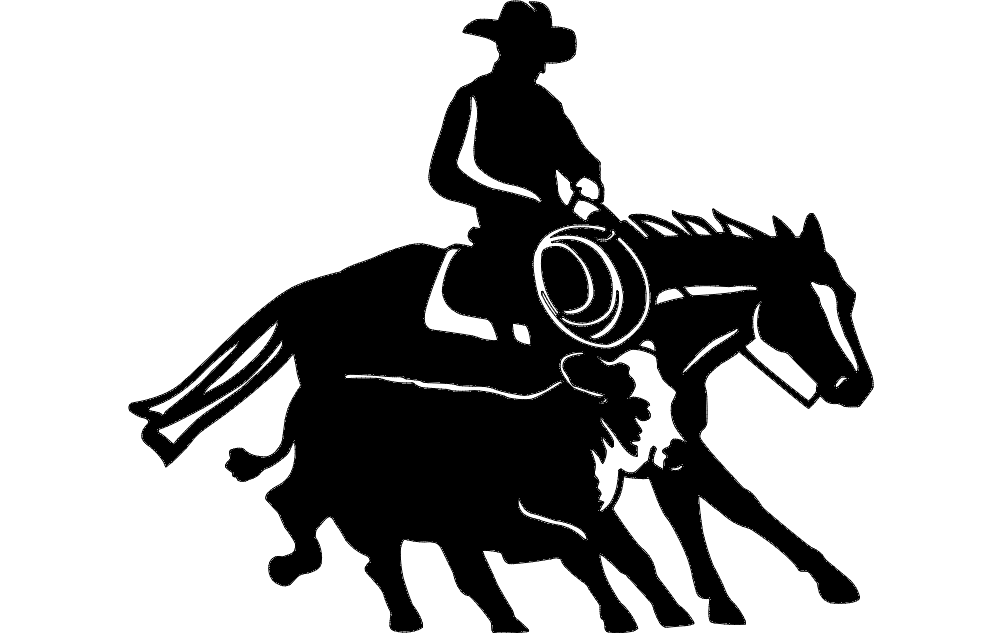 Cowboy And Western 14 Free DXF File