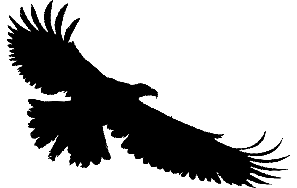 Flying Eagle Silhouette Free DXF File
