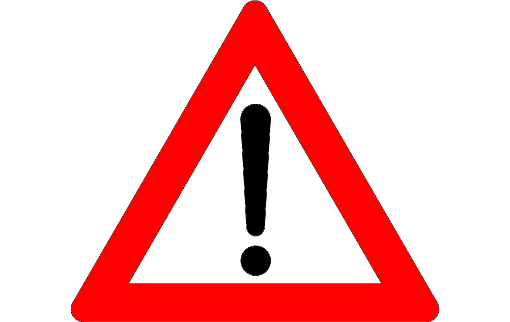 Exclamation Mark Road Sign Free DXF File