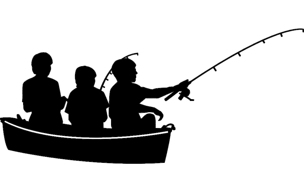 Fishing In Boat Free DXF File