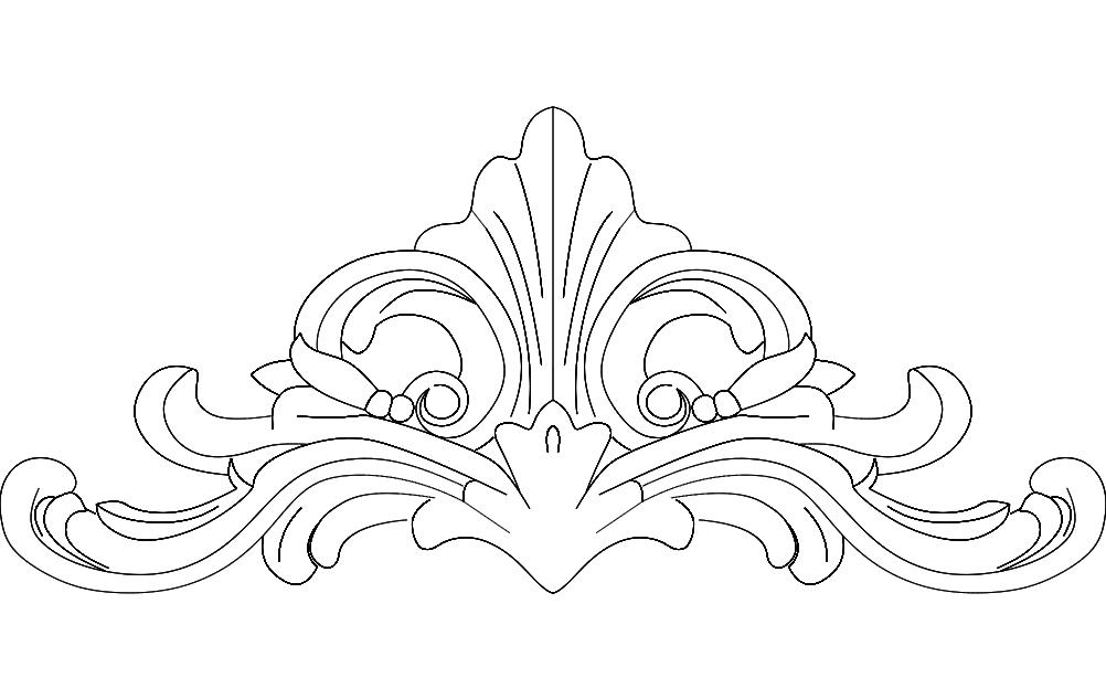Floral Design 1 Free DXF File