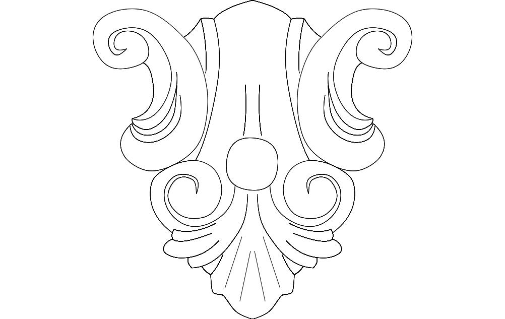 Floral Design 2 Free DXF File