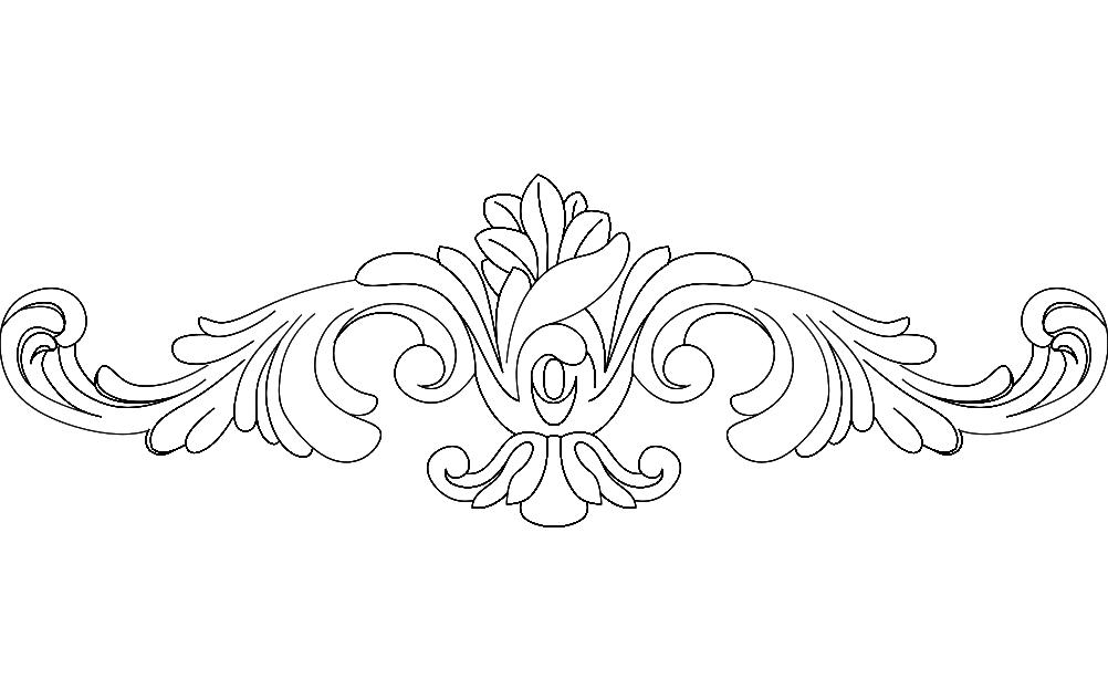 Floral Design 4 Free DXF File