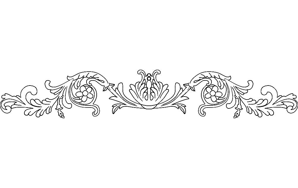 Floral Frame 5 Free DXF File