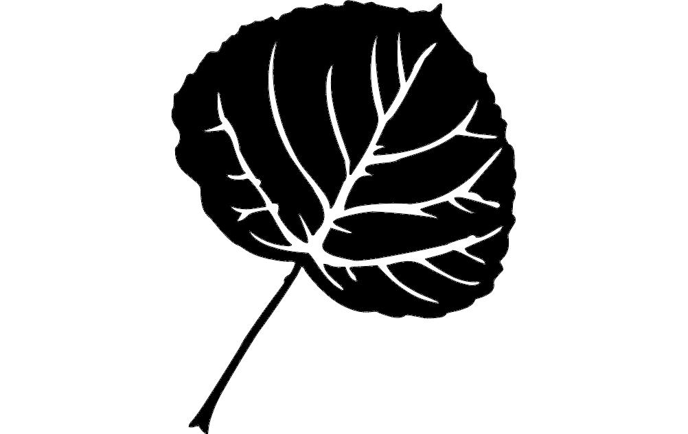 Floral Leaf Free DXF File