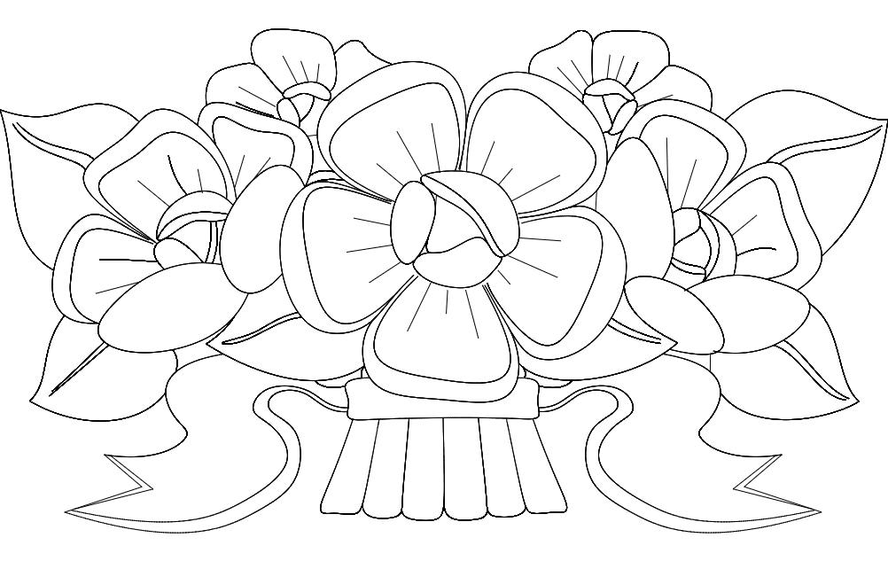 Flower Design 3 Free DXF File