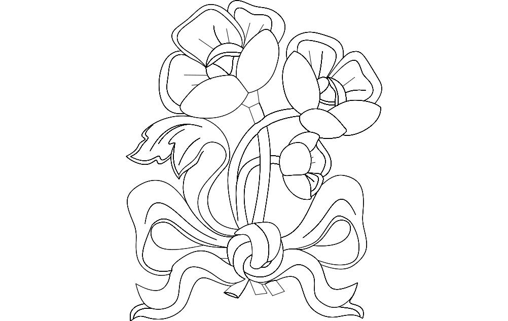 Flowers 8 Free DXF File