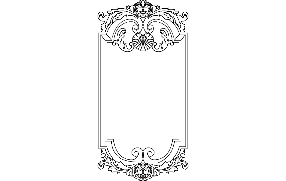 Frame Art 7 Free DXF File