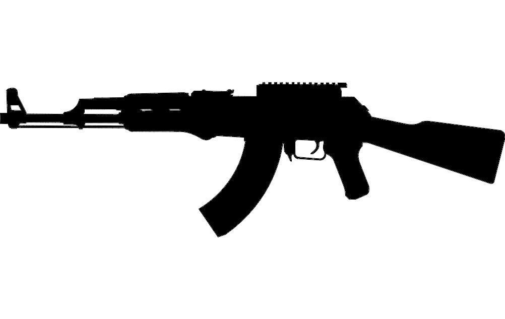 Gun 4 Free DXF File