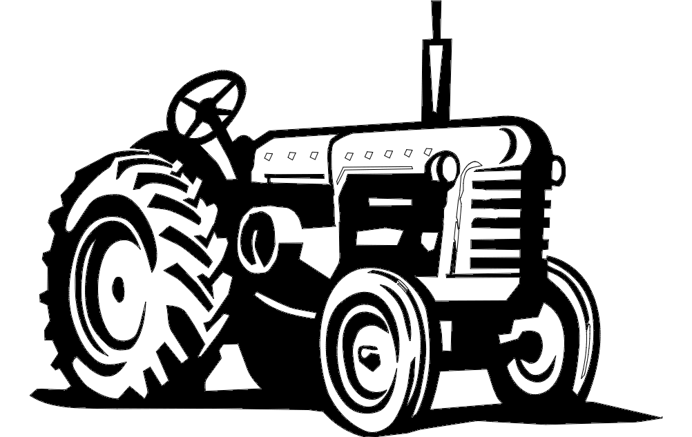 Heavy Tractor Free DXF File