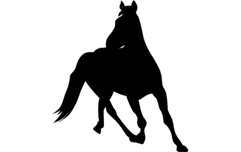 Horse Silhouette 6 Free DXF File