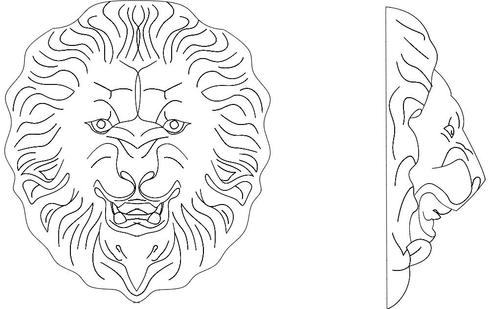 Lion 3 Free DXF File