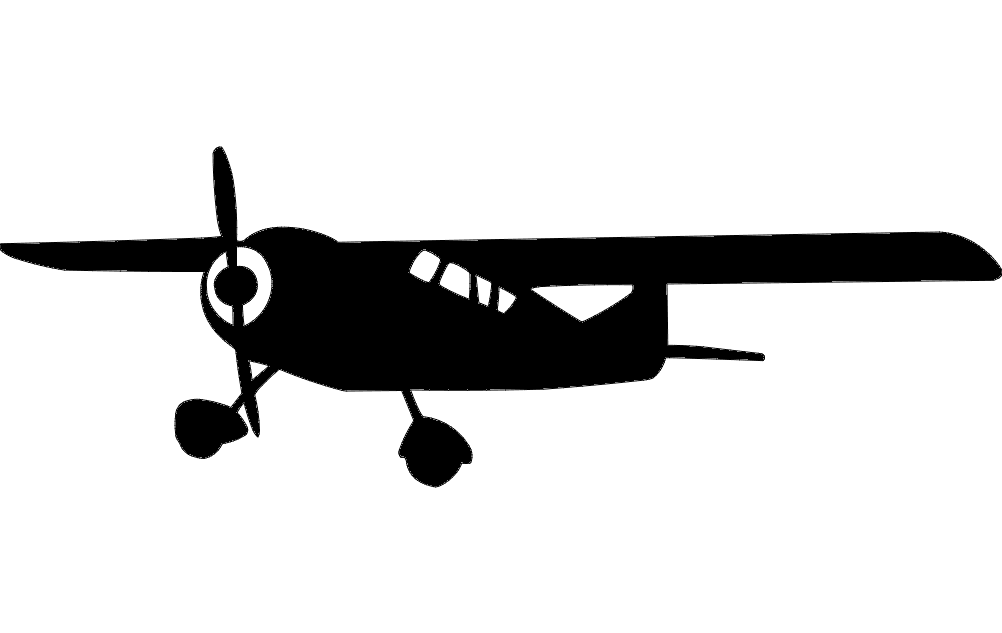 Plane Silhouette Free DXF File