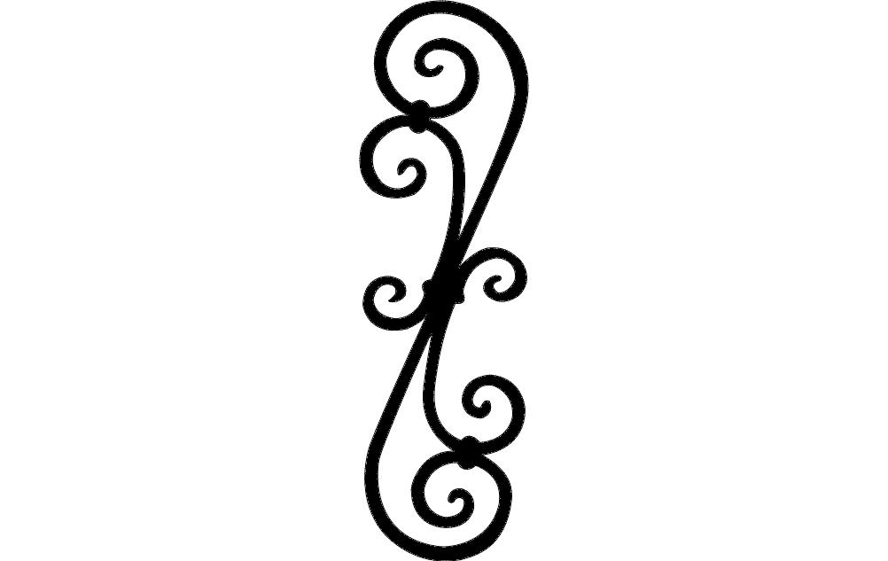 Scroll 11 Free DXF File