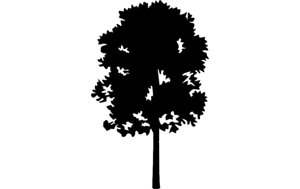 Tree 23 Free DXF File