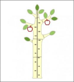 Apple Tree Height Measure Download For Laser Cut Cnc Free CDR Vectors Art