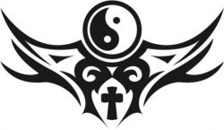 Bagua And Cross Download For Print Or Laser Engraving Machines Free CDR Vectors Art