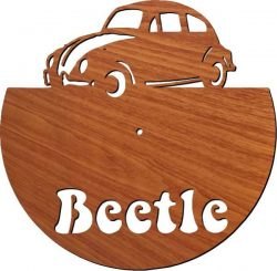 Beetle Car Wall Clock For Laser Cut Plasma Free CDR Vectors Art