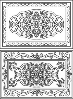 Celtic Decorative Frame Download For Laser Cut Cnc Free CDR Vectors Art