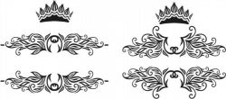 Decorative Crowns Vector Free DXF File