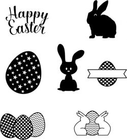 Drawings Of Objects And Decorations For Easter Free DXF File