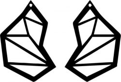 Earring Shaped Like A Wing Design Free DXF File