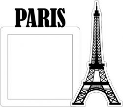 Eiffel Tower Picture Frame In Paris Free DXF File