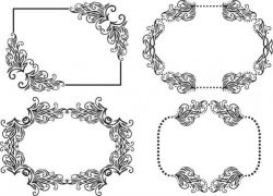 Frame Decorated With Patterns Free DXF File