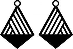 Geometric Cross Shaped Earring Design Free DXF File