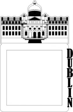 Picture Frame Of Dublin Building Free DXF File