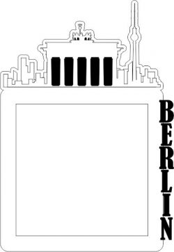 Picture Frame Of The Berlin Building Free DXF File