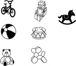 Sketches Of children's Favorite Toy Models Free DXF File