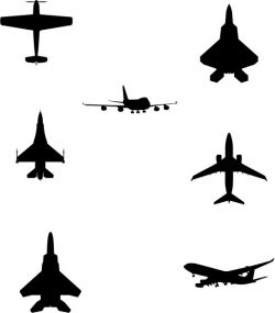 Summary Of The Shape Of The Aircraft Free DXF File