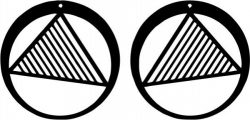 The Earring Are Shaped Like A Circle With Triangles Intertwined Free DXF File