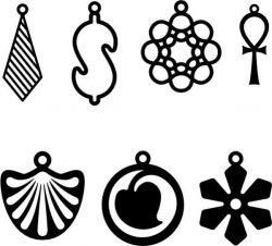 The Earrings Look Unique And Fancy Free DXF File