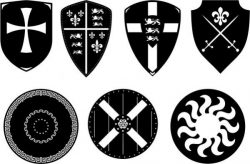 The Shield Symbolizes The Security Force Free DXF File