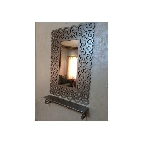 Bathroom Mirror Frame With Shelf Free DXF File